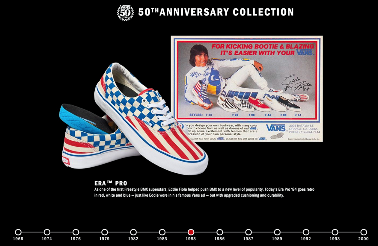 VANS 50th anniversary collection
