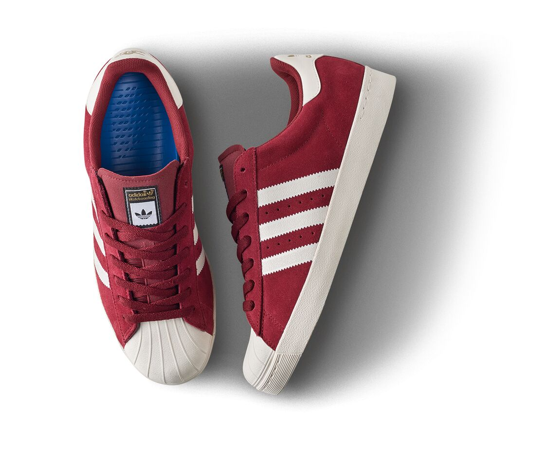 adidas Skateboarding Superstar ADV red